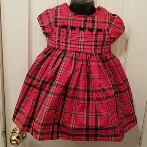 Infant Toddler Girls Holiday Dress Red Blk Plaid